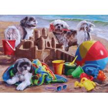 Пазл Cobble Hill, 1000 элементов - Щенки на пляже
