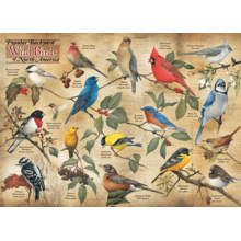 Пазл Cobble Hill, 1000 элементов - Виды садовых птиц