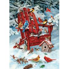 Пазл Cobble Hill, 1000 элементов - Птицы зимой