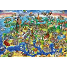 Пазл Educa, 1000 элементов - Европейский мир