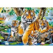 Пазл Castorland, 120 элементов - Семья тигров у ручья