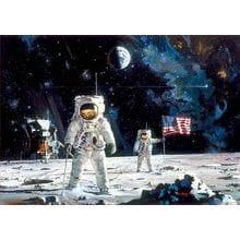 Пазл Educa, 1000 элементов - Роберт Макколл: Первые люди на Луне