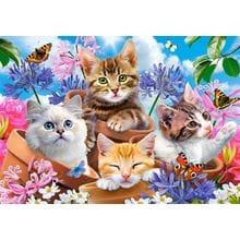 Пазл Castorland, 500 элементов - Котята в цветах