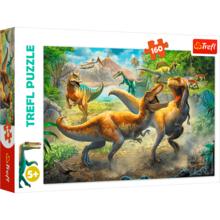Пазл Trefl, 160 элементов - Борьба тиранозавров