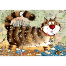 Пазл Heye, 1000 элементов - Degano: Кошачья жизнь
