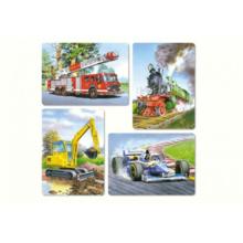 Пазл Castorland, 4 в 1 (8,12,15,20) элементов - Транспорт