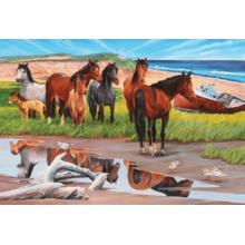 Пазл Cobble Hill, 2000 элементов - Лошади на острове