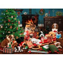 Пазл Cobble Hill, 500 элементов - Рождественские щенки