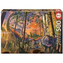 Пазл Educa, 500 элементов - Винсент Хи: Любопытный динозавр