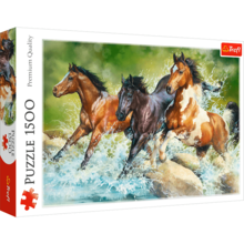Пазл Trefl, 1500 элементов - Три дикие лошади