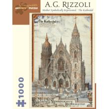 Пазл Pomegranate, 1000 элементов - Рицолли: Собор, как Символ Матери (верт.)