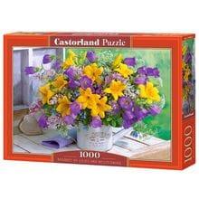 Пазл Castorland, 1000 элементов - Букет с лилиями и колокольчиками