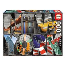 Пазл Educa, 1000 элементов - Нью-Йорк, коллаж