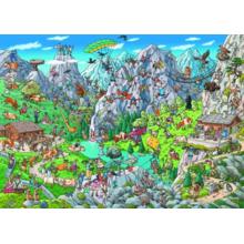 Пазл Heye, 1000 элементов - Туристы в Альпах, Tanck