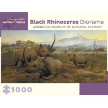 Пазл Pomegranate, 1000 элементов - Диорама. Черный носорог