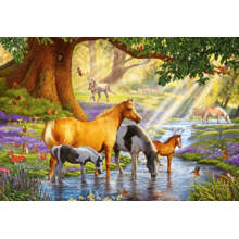 Пазл Castorland, 1000 элементов - Лошади на реке