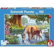 Пазл Schmidt, 150 элементов - Лошади на реке