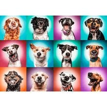 Пазл Trefl, 2000 элементов - Забавные портреты собак
