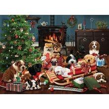 Пазл Cobble Hill, 1000 элементов - Robert Giordano: Рождественские Щенки