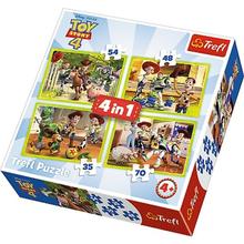 Набор пазлов 4 в 1 (35+48+54+70) элементов - Команда игрушек, Toy Story