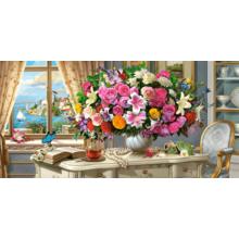 Пазл Castorland, 4000 деталей - Летние цветы и чашка чая