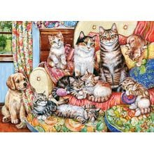 Пазл Castorland, 300 элементов - Кошачье семейство