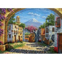 Пазл Clementoni, 500 элементов - Городок у вулкана