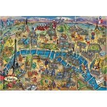 Пазл Educa, 500 элементов - Карта Парижа