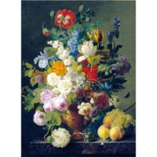 Пазл Clementoni, 1000 элементов - Ван Даль: Ваза с цветами