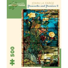 Пазл Pomegranate, 500 элементов - Джон Ла Фарж: Павлины и пионы