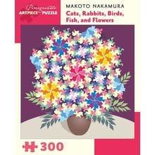 Пазл Pomegranate, 300 элементов - Кошки, Кролики, Птицы, Рыбы и Цветы