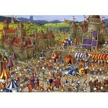 Пазл Heye, 1000 элементов - Кролики - рыцарский турнир