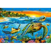 Пазл Castorland, 1000 элементов - Подводные черепахи