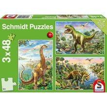 Пазл Schmidt, 3х48 элементов - Динозавры