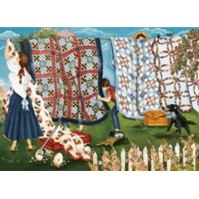 Пазл Cobble Hill, 1000 элементов - Shelley McVittie Выстиранное белье