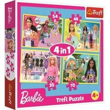 Пазл Trefl, 4 в 1 (35+48+54+70) элементов - Мир Барби