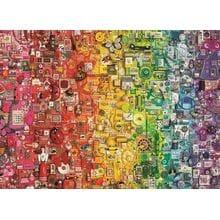 Пазл Cobble Hill, 1000 элементов - Палитра радуги - коллаж