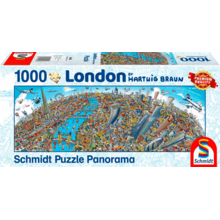 Пазл Schmidt, 1000 элементов - Хартвиг Браун: Панорама города - Лондон
