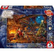 Пазл Schmidt, 1000 элементов - Т.Кинкейд. Санта Клаус и эльфы