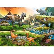 Пазл Castorland, 100 элементов - Мир динозавров