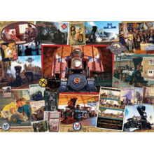 Пазл Cobble Hill, 1000 элементов - Железная дорога (коллаж)
