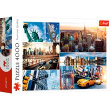Пазл Trefl, 4000 элементов - Нью-Йорк- коллаж
