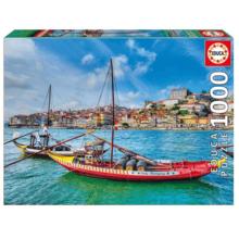 Пазл Educa, 1000 элементов - Лодки Рабелос, Португалия