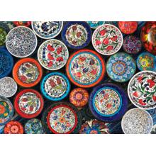 Пазл Cobble Hill, 1000 элементов - Расписные тарелки