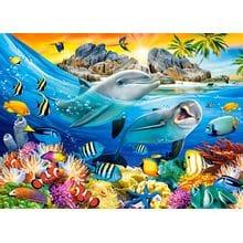 Пазл Castorland, 100 элементов - Дельфины в тропиках