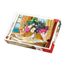 Пазл Trefl, 1000 элементов - Утренние цветы