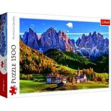 Пазл Trefl, 1500 элементов - Долина Валь-ди-Фунес, Альпы, Италия