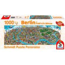 Пазл Schmidt, 1000 элементов - Хартвиг Браун: Панорама города - Берлин