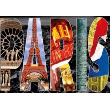 Пазл Educa, 1000 элементов - Париж, коллаж