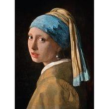 Пазл Clementoni, 1000 элементов - Вермеер, Девушка с жемчужной сережкой